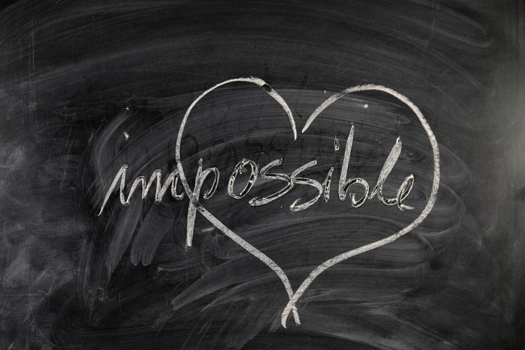 chalkboard heart impossible