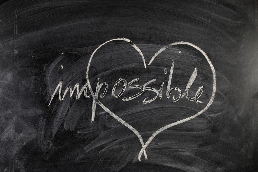 chalkboard heart impossible